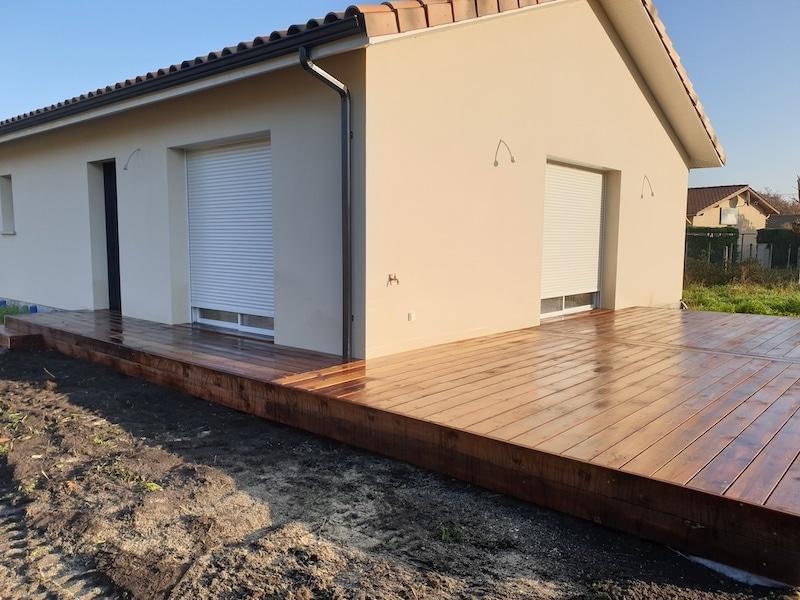 Terrasse bois réalisée à Biganos par MTP33